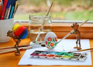 Velikonoční pohlednice s dubánky