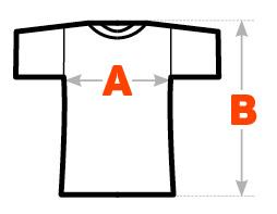 Velikosti a rozměry triček