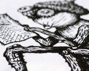 Detail kvality tisku na textil