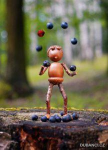 Žonglování s borůvkami